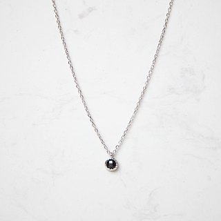 Black spirelets small round sterling silver chain - sterling silver / rose gold / 18K gold