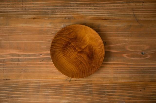 Wipe lacquer wooden plate horse chestnut (chestnut) raw lacquer 21cm
