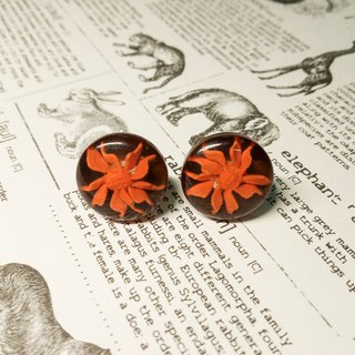 Vintage button earrings //