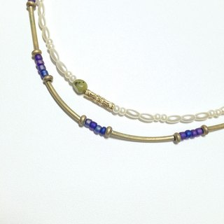 Violet * Japanese blue-violet color fog beads