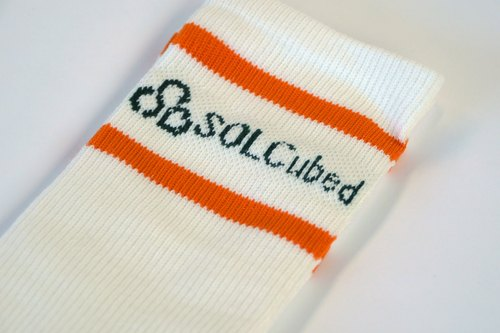 Organic cotton socks neutral section -logo version