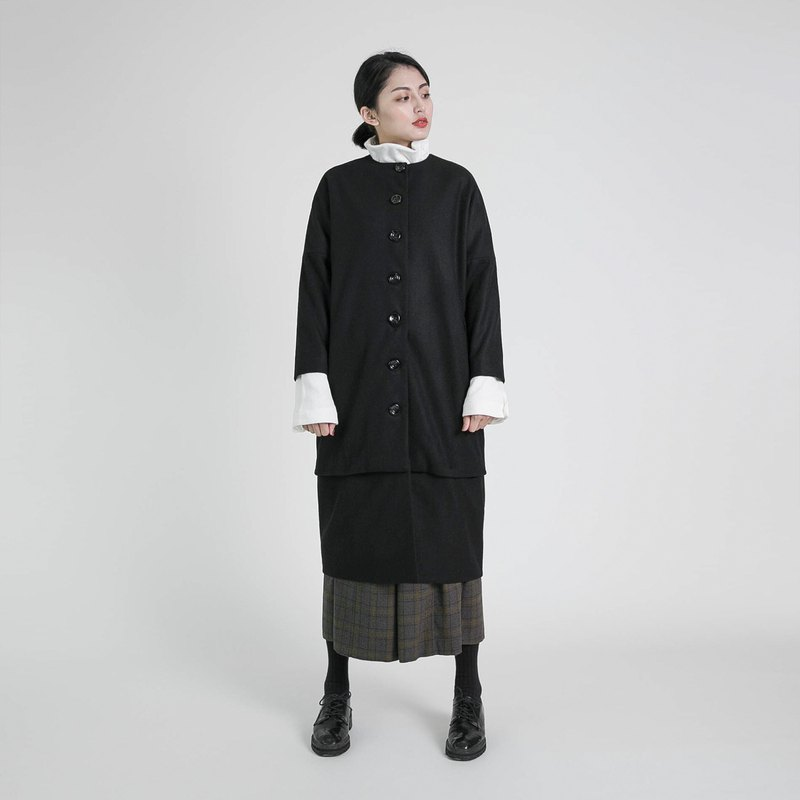 Situation Situation Woolen Detachable Coat_8AF307_Black
