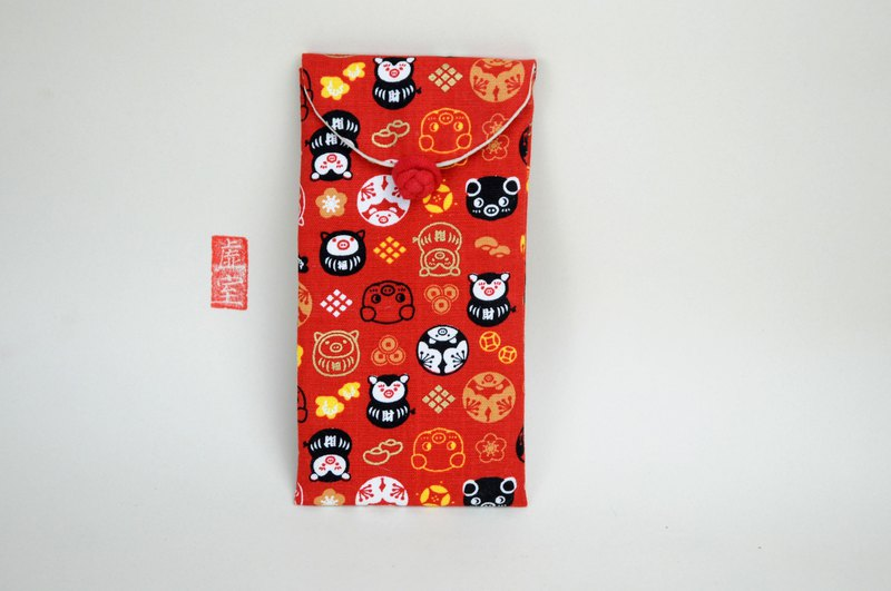 Buy 3 get 1 free environmental protection cloth red bag, profit, seal, eyeglasses, pencil case, gold pig, Wang Cai, auspicious