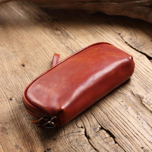 Handcrafted Leather Clutch Multi-function Storage Bag Gift