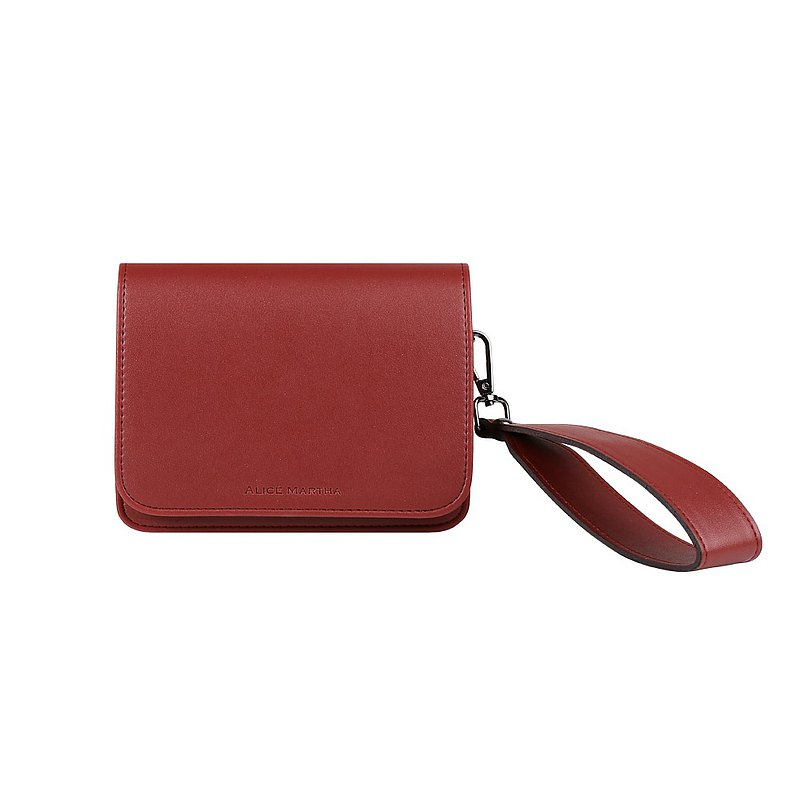 Alice Martha Square Crossbody Bag-Burgundy