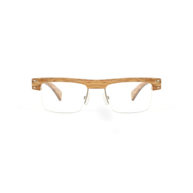 Limit amount of bamboo deep coffee half square eyebrow glasses