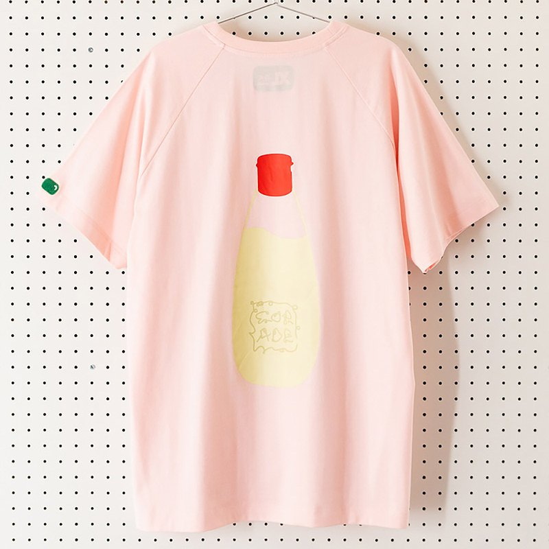 Mayonnaise pink short-sleeved T-shirt Mayonnaise Neutral couples Japanese-style fun hipsters