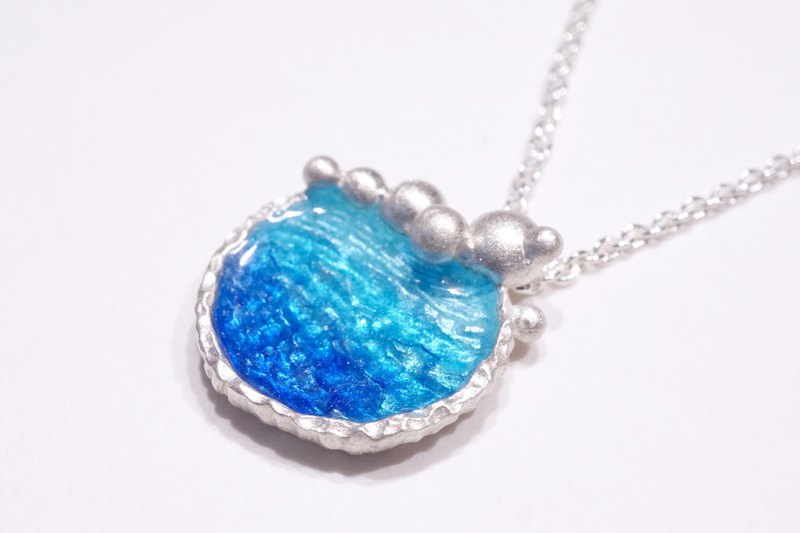Ocean Series - Azure Silver Silver Clavicle Necklace