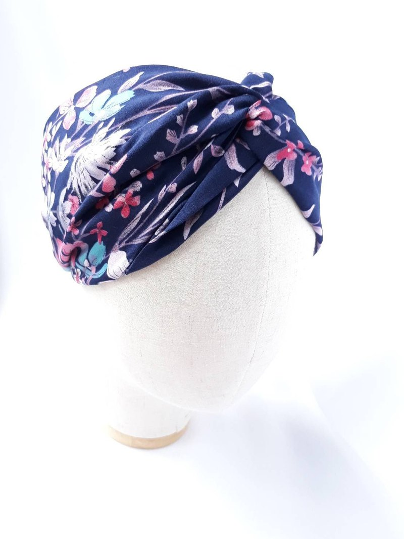 Dark blue orchid headscarf scarf type manual hair band