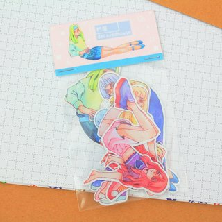 Girls hand painted watercolor stickers 6 into