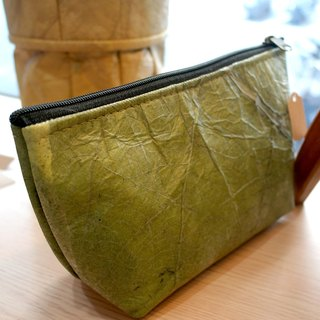 Mr.Leaf - Simple natural style three-dimensional cosmetic bag