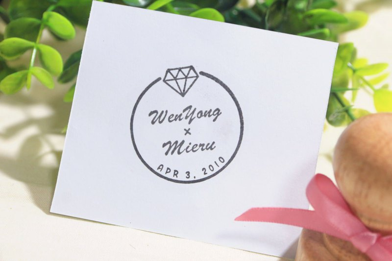 Wedding Lover Anniversary Seal Wedding Ring Style | Customization | Wedding Seal