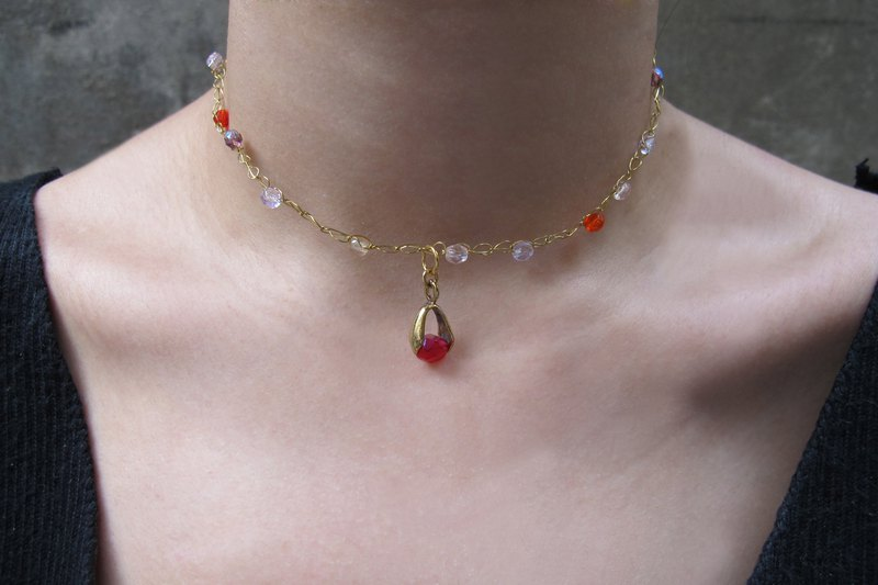Rose red light court clavicle chain bracelet dual use