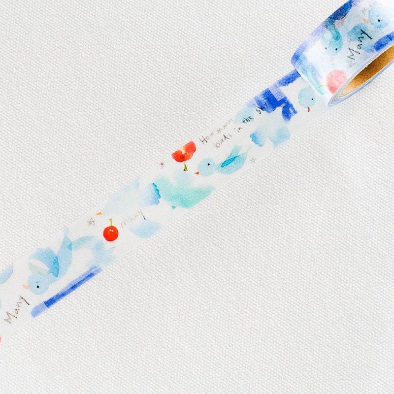 涼丰LiangFeng 聯名款 Vol.1 和紙膠帶 - 晴空青鳥 ( MTW-LF002 )
