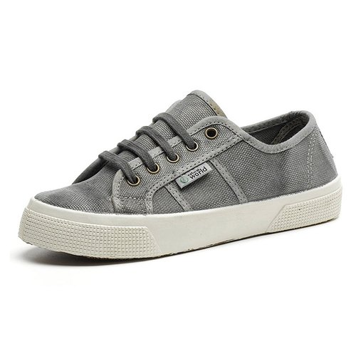 Spanish handmade canvas shoes / 901E casual basic models / female models / washed ash