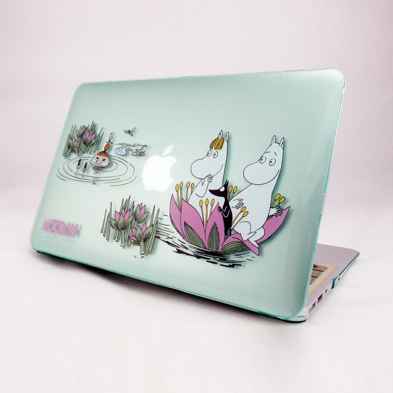 "Moomin Lulu meters genuine licensing - Macbook crystal shell: [lotus pool side play] (light green) ""Macbook Pro / Air 13-inch special"""