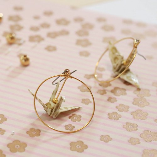 Crane earrings -patternC-