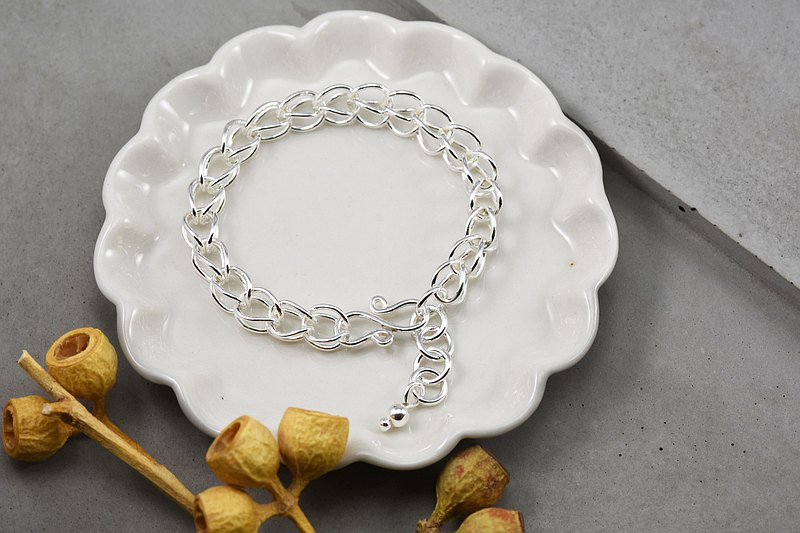Exclusive silver bracelet - fat bracelet (female)