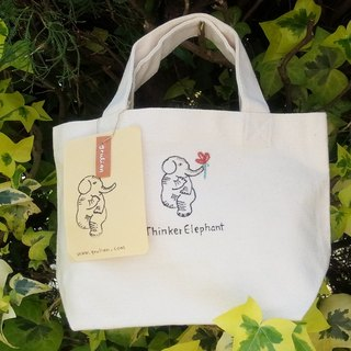 Mini  totebag   【Thinker Elephant 】