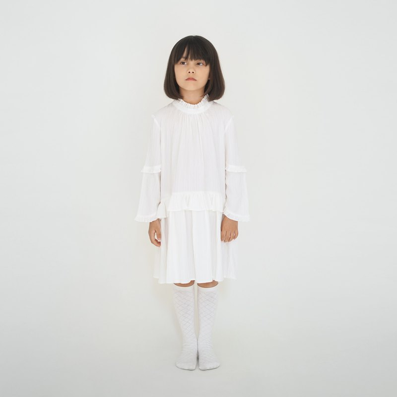 HANASHIDA2019 Autumn Girls Temperament White Lace Dress