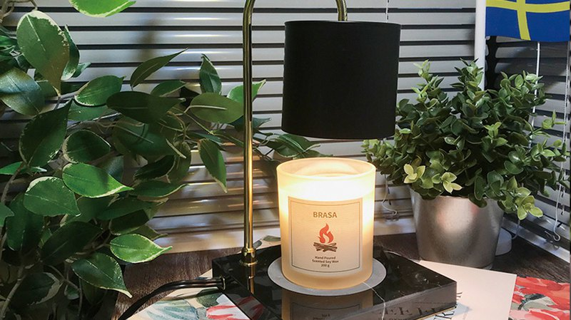 [Exhibition] Candle Warmer Wax Lamp - Black Marble Desk (Large)