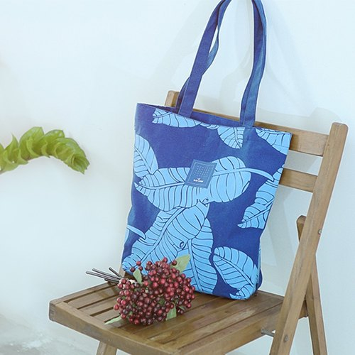 Color-Up Shoulder Bag / Canvas Bag / Print Banana leaf