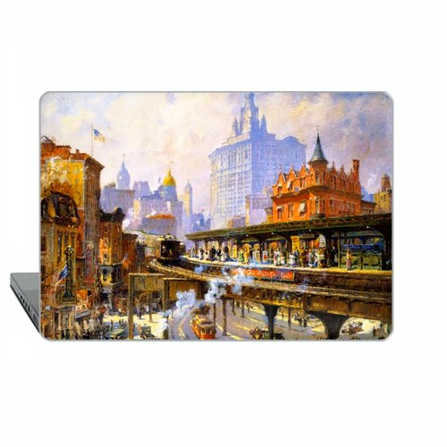 American art Macbook Pro 13 touch bar Case MacBook Air 13 Case Cooper Macbook 11 Chatham Macbook 12 Pro 15 Retina New York Case Hard Plastic 1803