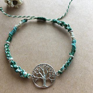 永生树THE TREE OF LIFE sterling silver woven bracelet