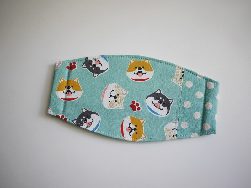 Handmade order = daily essentials = hand masks = smile Shiba Inu = Lake Green + Little
