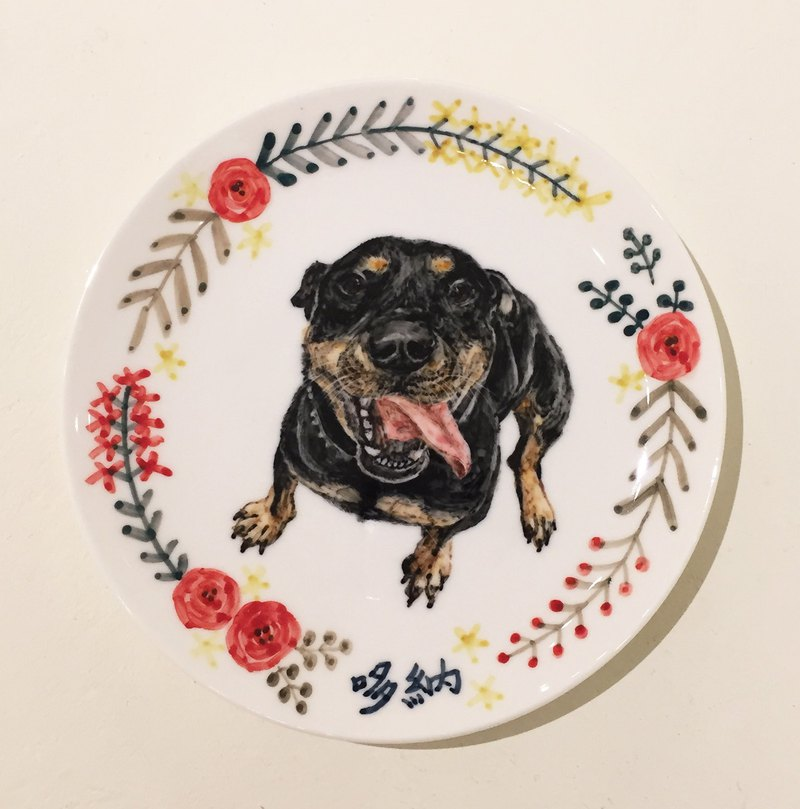 Hand-painted 6-inch cake plate dinner plate-customized exclusive pattern customized dog plate