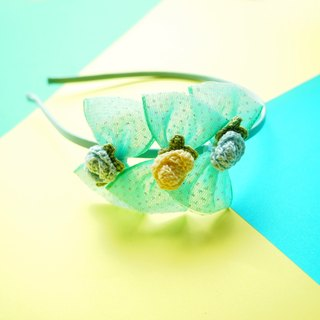 Hand-woven elegant brown light butterfly girl headband BH067