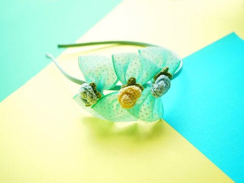 Handmade Elegant Light Green Butterfly Girl Hairband BH067