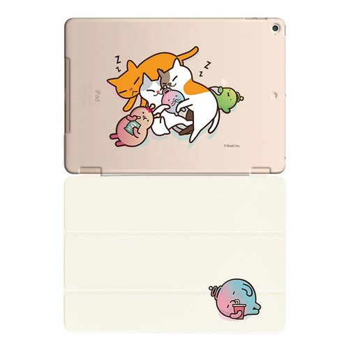 "New Series - No personality Star Roo-iPad crystal shell: [cat hug] ""iPad Mini"" crystal shell (through) + Smart Cover rod (white), AB0BB01"