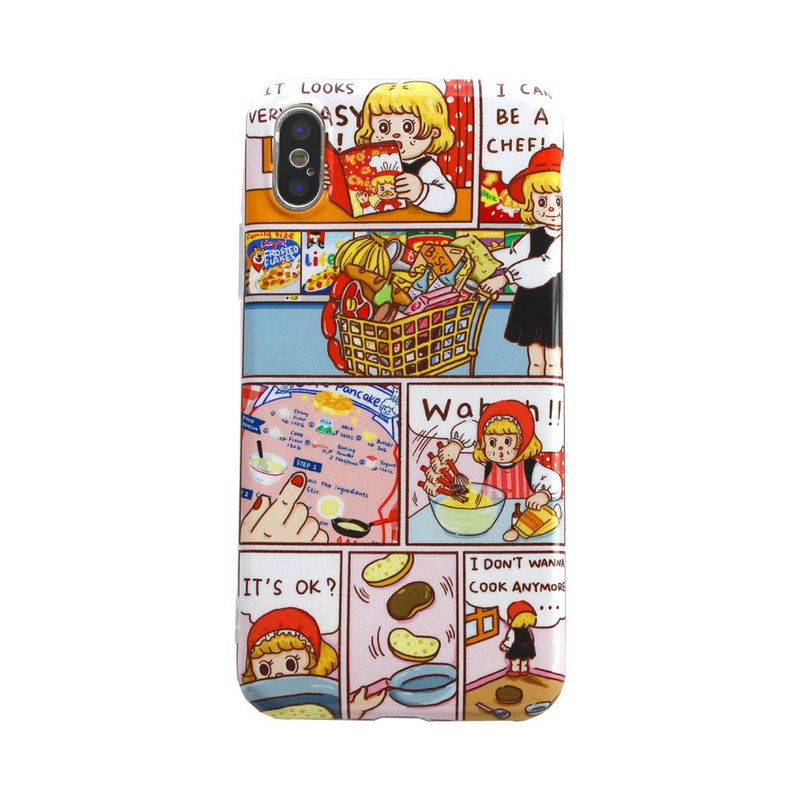 ZEXCHOO exclusive design ANGEL BAKERY series Apple mobile phone shell to make muffin comics