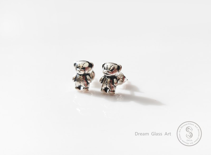DreamGlassArt * Ma Lei Bear Earrings - SBBC-190500 - Stand Bear