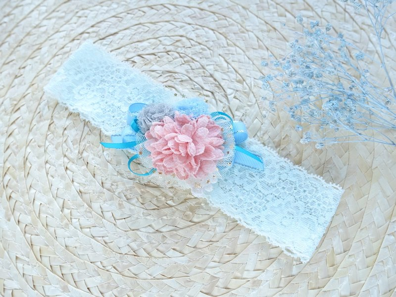 Baby Headband - light blue color