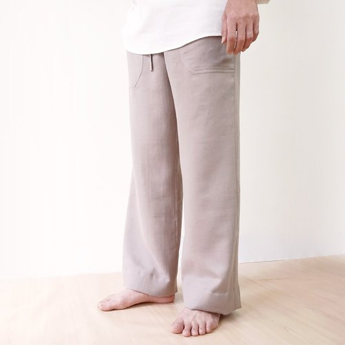 Harmony Organic Cotton Gentleman Straight Trousers - Grey Brown