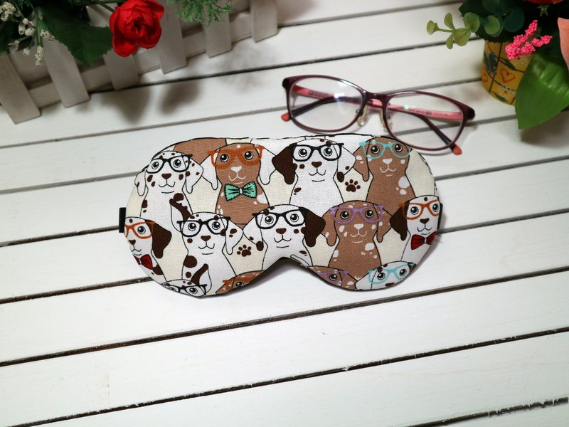 Eyeglass dog adjustable sleep eye mask sleep mask