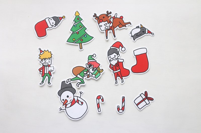 Needless King Christmas Sticker (11 in)