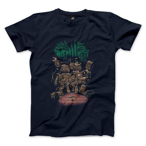 Green Revolution in the Steam Age-Navy-Unisex T-Shirt