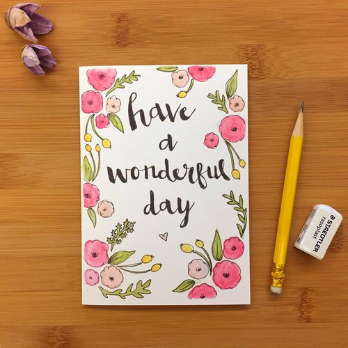 【LITTLE DIFFERENCE】WONDERFUL DAY GREETING CARD