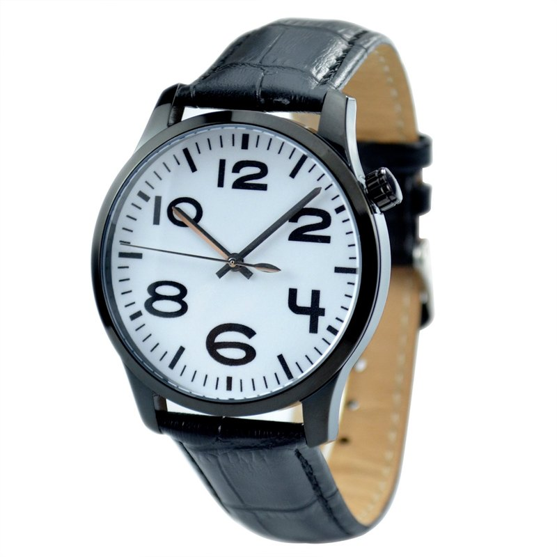 Men's Simple Watch Large White Digital - Free Shipping Worldwide