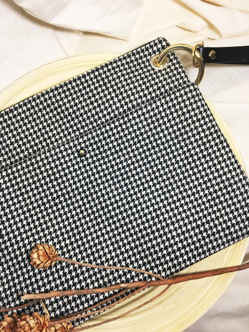 Tweed hand bag Houndstooth