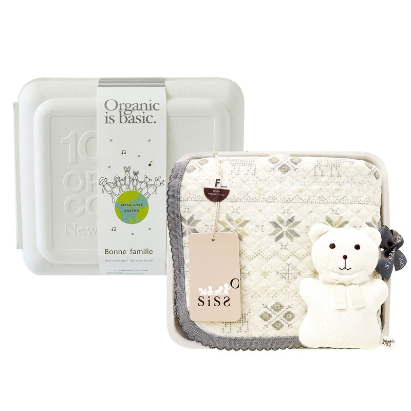 [SISSO Organic Cotton] Small Snowflake Air Cotton Universal Blanket Gift Box F
