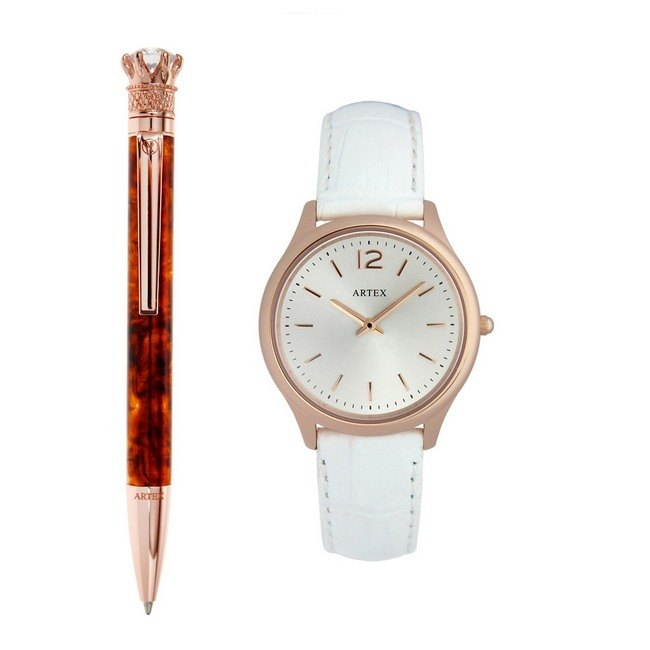 ARTEX Royal Praise Ball Pen + Watch Double Combination