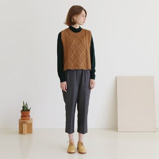 KOOW April Story Vintage Cable Knit Vest College Wind Autumn Winter Wool Vest