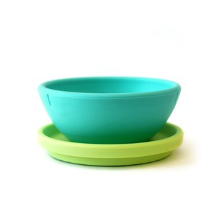 American silikids jelly cutlery – two-piece silicone bowl