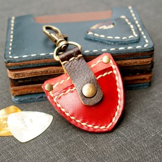 Guitar pick case Vintage Style // Personalized Gift Leather Musician Keychain