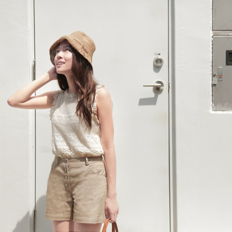 Affinity | Partial Affinities Japanese vintage denim shorts A-Line (Vintage Brown)