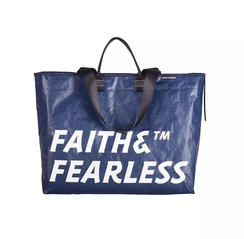 Faith & Fearless Pop Bag袋_海軍藍